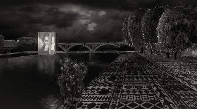 Duplicated Bridge night view
