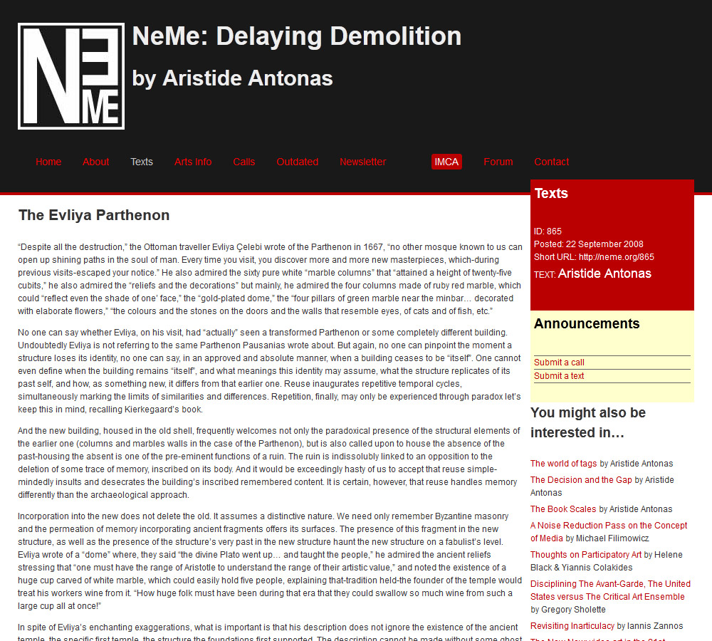 Delaying Demolition