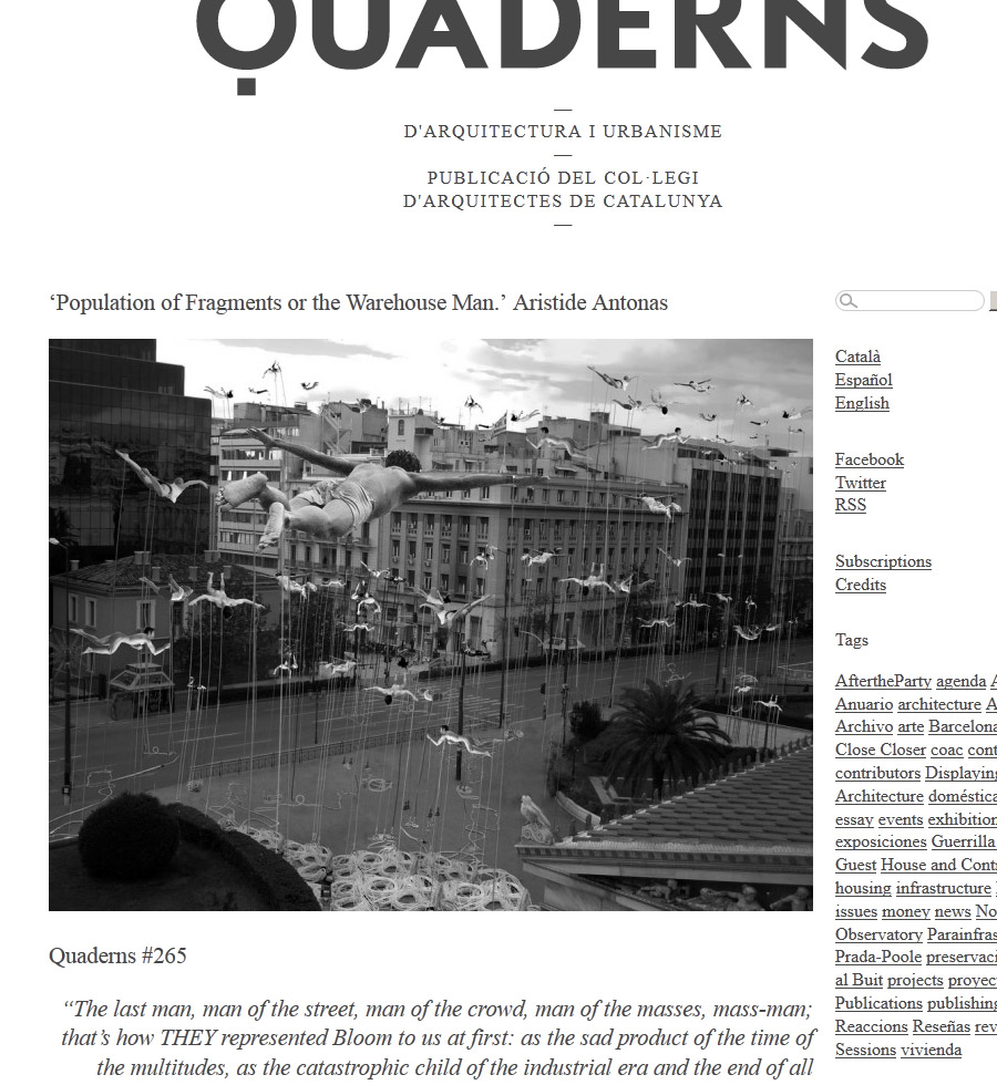 'Population of Fragments or the Warehouse Man | Quaderns