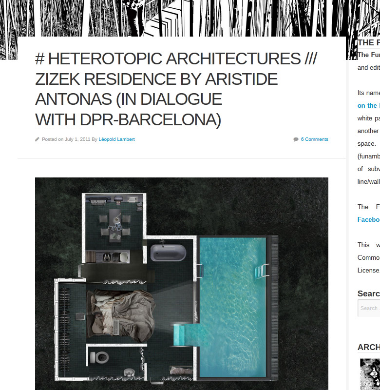 # HETEROTOPIC ARCHITECTURES /// Zizek Residence by Aristide Antonas (in dialogue with dpr-barcelona)   The Funambulist