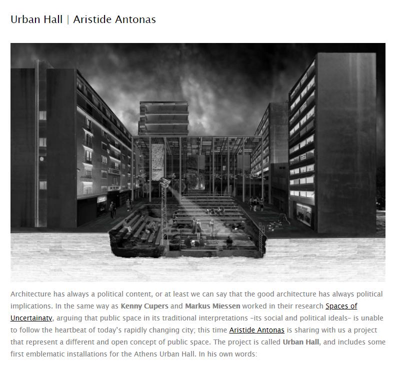 Urban Hall | Aristide Antonas | dpr-barcelona