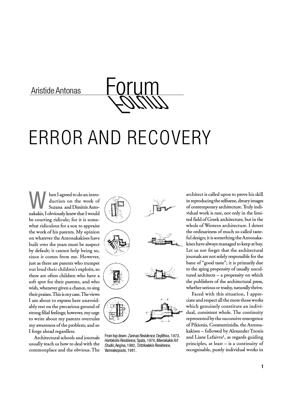 Error and Recovery