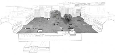 Omonoia Square section