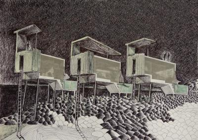 Three houses for doing nothing, 2013